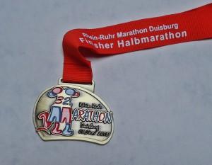 Finisher Medaille Rhein-Ruhr-Marathon 2015 / Halbmarathon