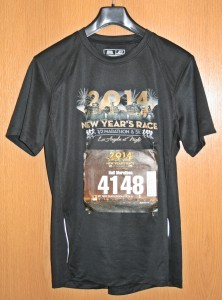 Laufshirt New Year's Race Los Angeles 2014
