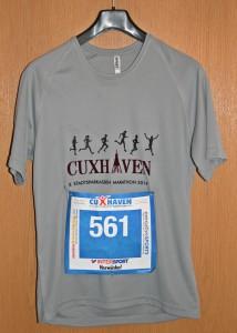 Laufshirt 8. Cuxhaven Marathon 2014