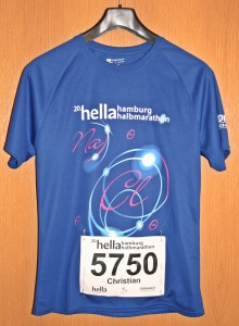 Laufshirt 20. hella hamburg halbmarathon 2014