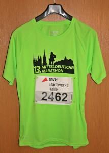 Laufshirt 13. Mitteldeutscher Marathon