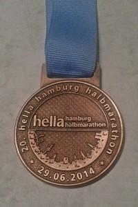 Finisher Medaille 20. Hella Hamburg Halbmarathon