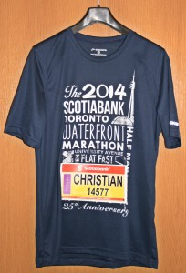 Laufshirt Scotiabank Toronto Half Marathon 2014