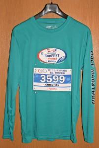 Laufshirt Niagara Falls Half Marathon 2014