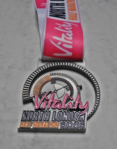 Finisher Medaille North London Half Marathon 2015 / Halbmarathon