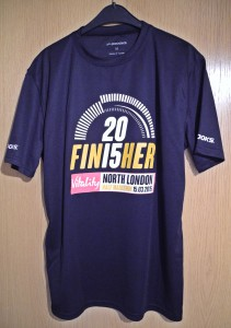 Finisher-Laufshirt North London Half Marathon 2015 / Halbmarathon