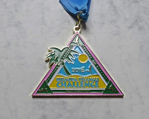Finisher Medaille Bermuda Triangle Challenge 2016 / Gesamtwertung