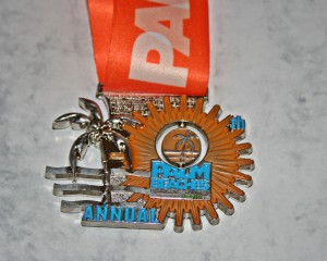 Finisher Medaille Palm Beaches Marathon Palm Beach / Florida