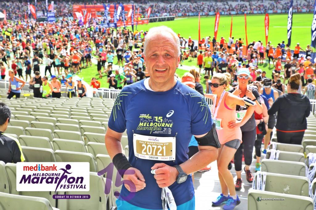 Halbmarathon - Melbourne Halbmarathon, Melbourne Australien, 18. Oktober 2015