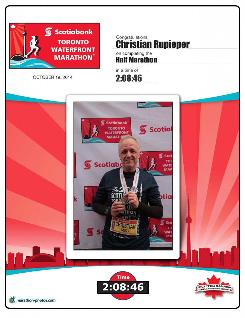 Scotiabank Toronto Waterfront Marathon, 19. Oktober 2014