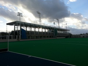 "Hamilton - Bermuda National Sports Centre / Fussball Nationalstadion"" g""Bermuda National Sports Centre / Fussball Nationalstadion"