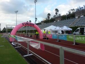 "Hamilton - Bermuda National Sports Centre / Fussball Nationalstadion"" g""Bermuda National Sports Centre / Fussball Nationalstadion, Zielbereich"