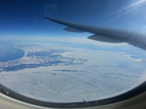 Flug von London nach New York - über Kanada