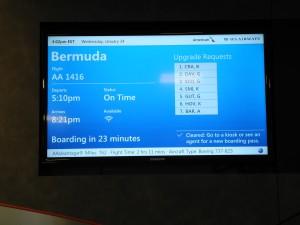 Abflug von JKF New York nach Bermudas