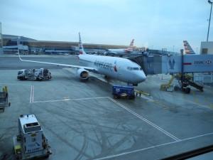 Das Flugzeug für den Flug nach Bermudas