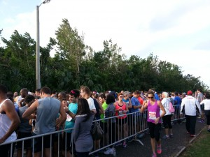 Hamilton - Startbereich zum 10 km Lauf, Startaufstellung