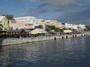 Hamilton Hafen mit Blick auf die Front Street