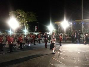 Hamilton, Front Street - Eröffnungsfeier zum Start des Marathon Wochenende