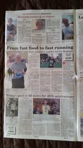 """Bermuda Zeitung """"The Royal Gazette"""" - Beilage zum Marathon Wochenende, Seite 2"""