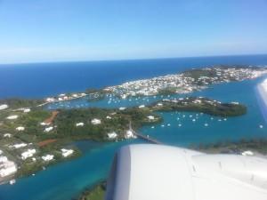 Rückflug - Abschied von den Bermudas, das letzte Foto vom Paradies