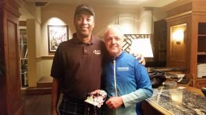 Veranstaltungsdirektor des Bermuda Marathon Weekend Anthony zu Besuch