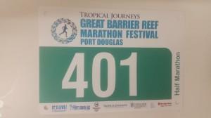 Great Barrier Reef Marathon Wochenende - Meine Startnummer