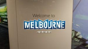 Ankunft Melbourne Flughafen