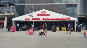 MCG Stadion -Läufermesse / Startnummerabholung