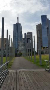Melbourne - Rückweg vom MCG Stadion zur Innenstadt
