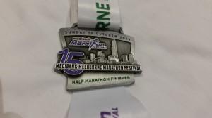 Melbourne Halbmarathon - die Medaille