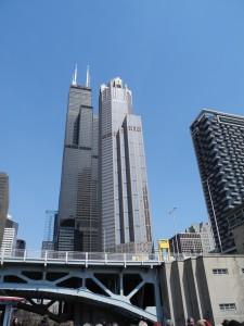 Rundfahrt mit dem Boot auf dem Chicago River