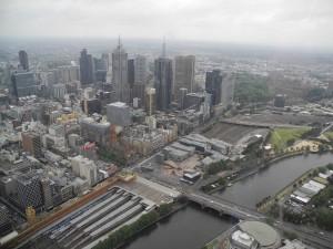 Eureka Skydeck - Ausblick auf Melbourne
