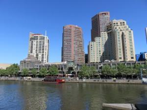 Ausblick auf Melbourne von der Southbank