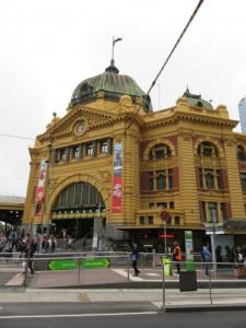 Melbourne - Der Bahnhof Flinders Street Station