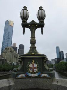 Melbourne - Brückenbeleuchtung auf der Princes Bridge