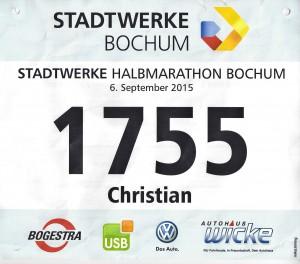 Stadtwerke Halbmarathon Bochum - Startnummer