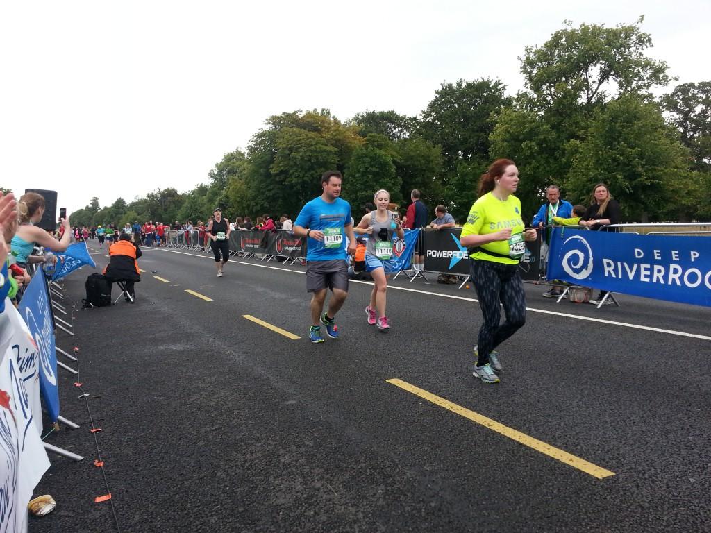 Dublin Halbmarathon - nach dem Lauf