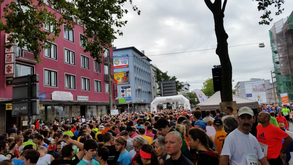 Stadtwerke Halbmarathon Bochum - vor dem Lauf