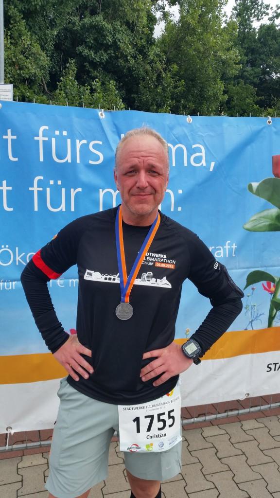 Stadtwerke Halbmarathon Bochum - nach dem Lauf