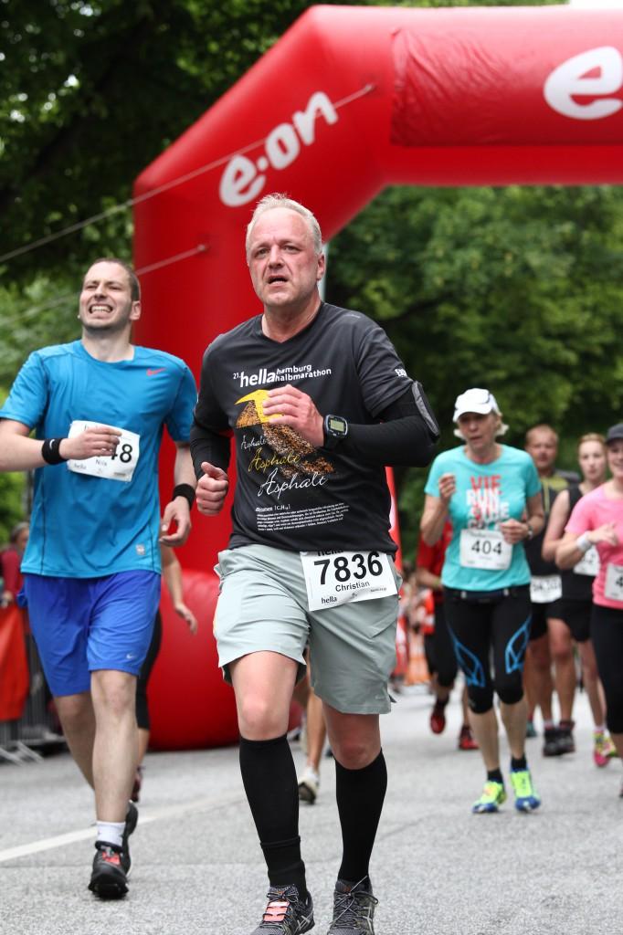 Halbmarathon – 21. hella hamburg halbmarathon, 21. Juni 2015: Zieleinlauf