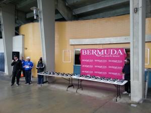 Bermuda National Stadium - nach dem Lauf, Siegerehrung