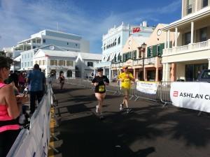 Bermuda Marathon Weekend - nach dem Lauf, der Zieleinlauf