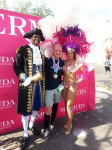 Bermuda Marathon Weekend - nach dem Lauf, immer diese Fototermine wenn man so müde ist :-)