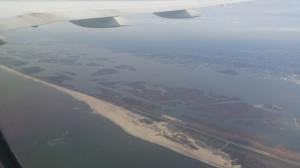 Weiterflug auf die Bermudas - über New York