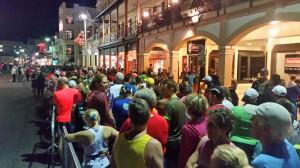 1-Mile-Run - Front Street, Startbereich kurz vor dem Start