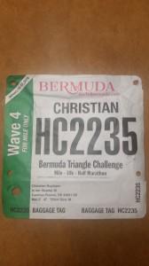 Bermuda Marathon Weekend - Triangle Challenge, meine Startnummer