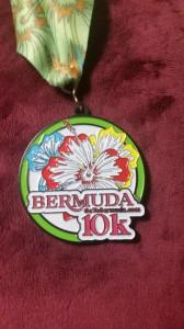 10 km Lauf - der Lohn für die Arbeit - die Medaille