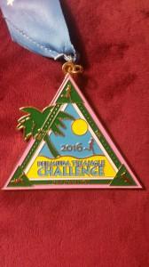 Bermuda Triangle Challenge - die Medaille für drei erfolgreiche Läufe beim Bermuda Marathon Weekend 2016