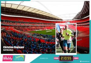 Halbmarathon - Zieleinlauf im Wembley Stadion