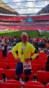 Halbmarathon - Ziel im Wembley Stadion